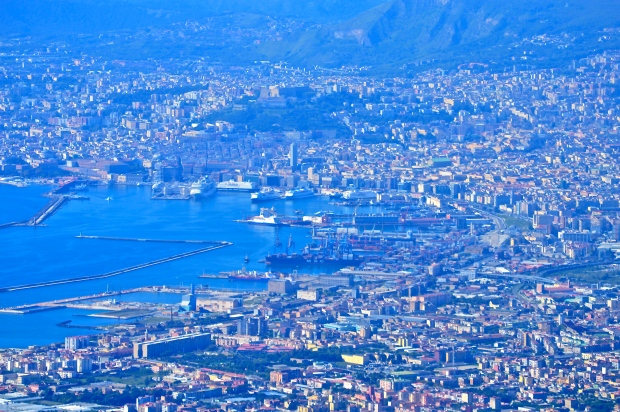 Naples as seen from Mt. Vesuvius. It's much bigger than I imagined